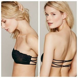 NWT Black Essential Lace Bandeau Bra
